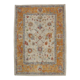 Contemporary Turkish Oushak Rug with Tribal Boho Chic Style, 10' x 15'1""