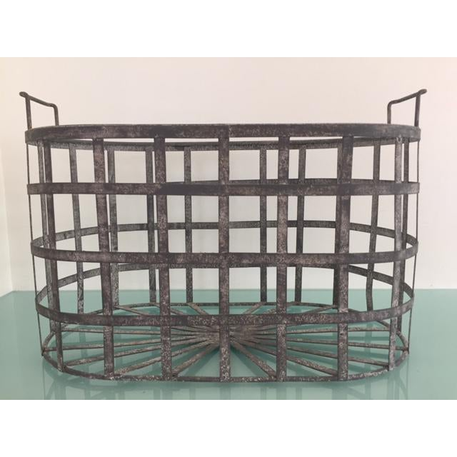 Vintage Zinc Basket - Image 2 of 8