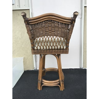 Vintage Mid Century Rattan Bar Stool Preview