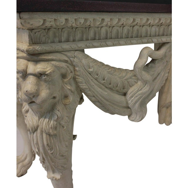 A Large Country House Console Table With a Solid Porphyry Top For Sale - Image 6 of 8