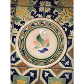 Vintage Mexican Ceramic Pozole Bowls Hand Painted Multi-Color Flower Design - a Pair Preview