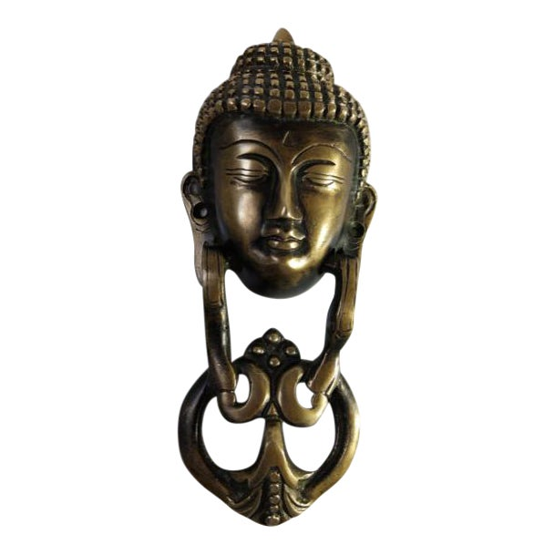 Brass Buddha Door Knocker For Sale