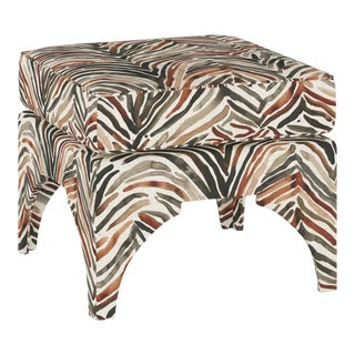 Ottoman, Washed Zebra Neutral For Sale