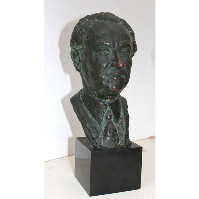 Bronze Bronze Bust by Serge Yourievitch For Sale - Image 7 of 7