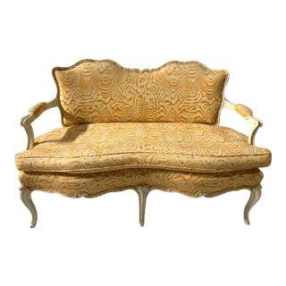 Louis XV Style Painted Settee For Sale