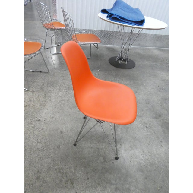 8 Orange Herman Miller Eames Office Eiffel Tower Chairs For Sale In Miami - Image 6 of 10
