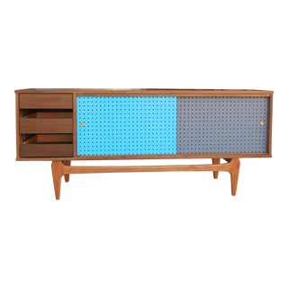 Danish Modern Style Walnut Credenza For Sale