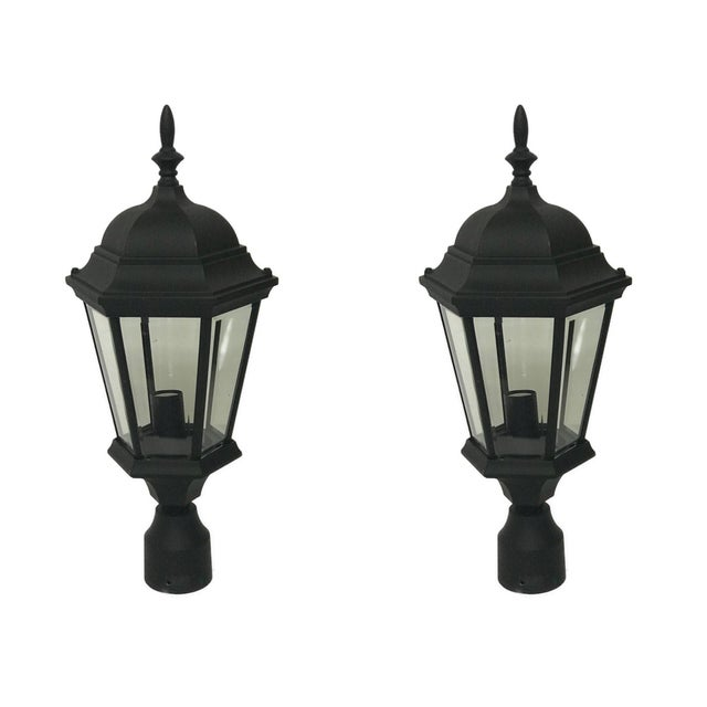 Not Yet Made - Made To Order Aluminum Post Lanterns - A Pair For Sale - Image 5 of 5