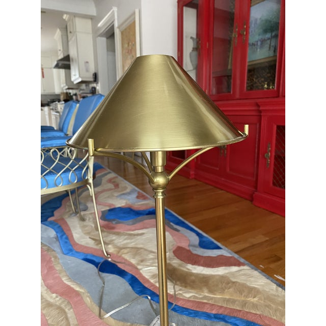 These beautiful brass table lamps have a number of stylistic notes that heighten its charm: the globe decorative elements...
