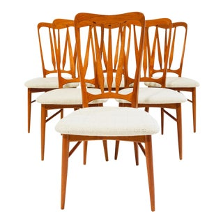 1950s Niels Kofoed Hornslet Teak Dining Chairs - Set of 6 For Sale