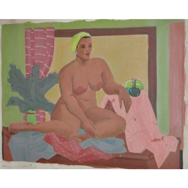 Vintage Figurative Nude Oil Painting C.1940's - Image 1 of 6