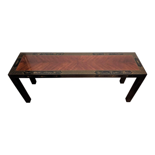 1980s Chinoiserie Console Table & Side Tables, Set of 3 (Drexel - Et Cetera Collection) For Sale In Dallas - Image 6 of 13