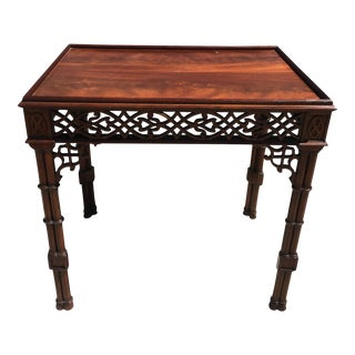 Chippendale Style Mahogany Fretwork Table For Sale