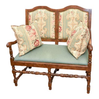 Vintage Country French Provincial Double Settee For Sale