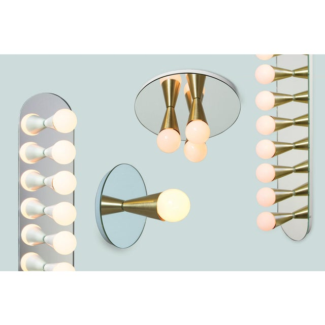 Not Yet Made - Made To Order Echo 1 Sconce in Brass With Mirror-Backing by Souda For Sale - Image 5 of 6