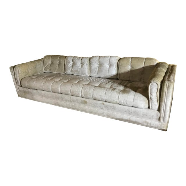 1970s Milo Baughman Frost White Sofa For Sale