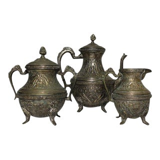 Antique Ceylonese Tea Set - Set of 3