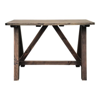 Rustic Wooden Rectangular Center Table For Sale