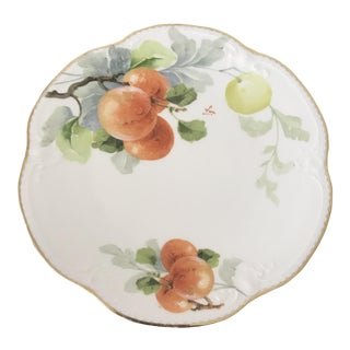 Antique Limoges Hand Painted French Pears Plate
