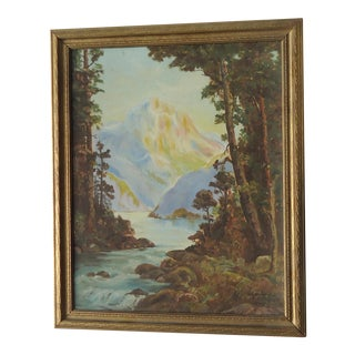 Rocky Mountain Landscape by James Lipari, 1936 For Sale