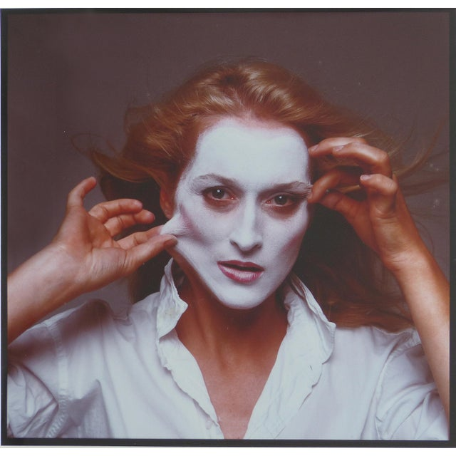 This iconic photograph of the actress Meryl Streep was taken by Annie Leibovitz in 1981 for a Rolling Stones magazine...