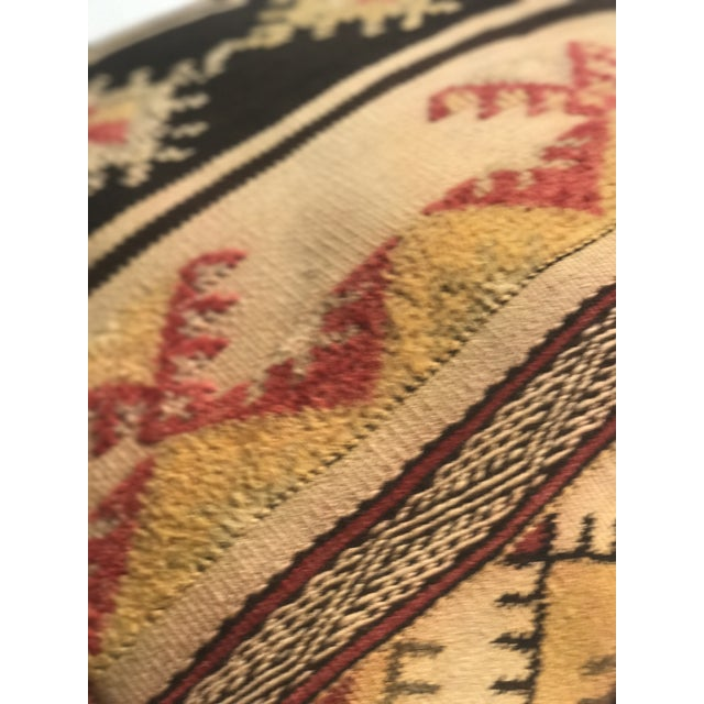 Moroccan Vintage Wool Pouf - Image 6 of 11