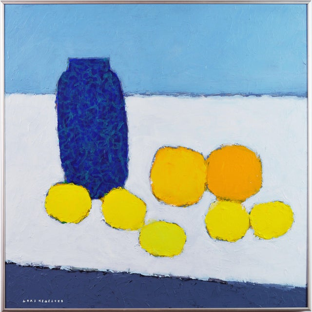 Sometimes less is more. This work is about color, texture, simple forms.and a composition that stays alive. 'Color...