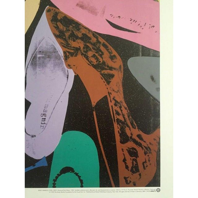 Original Vintage 1999 Andy Warhol Lithograph Print Diamond Dust Shoes Pop Art Poster
