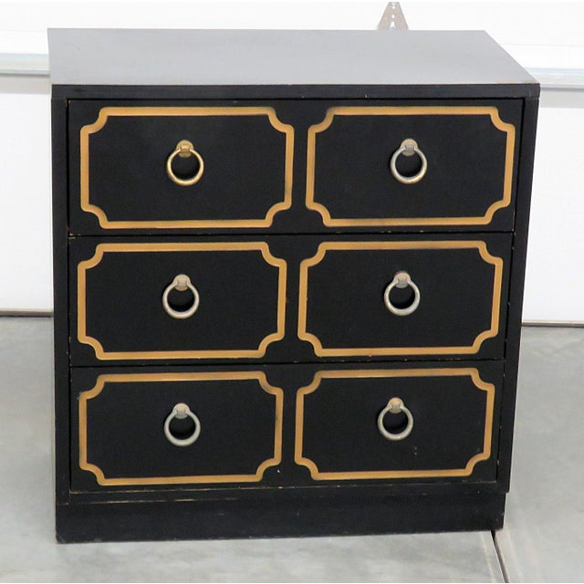 Mid-Century Modern Style Gold-Detailed Chest of Drawers For Sale - Image 10 of 10