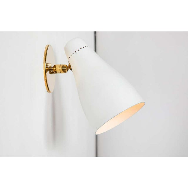 White 1950s Gino Sarfatti Perforated Cone Sconces for Arteluce - a Pair For Sale - Image 8 of 13
