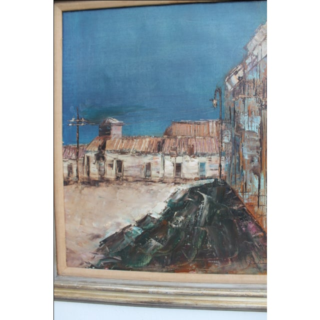 Expressionist Oil on Canvas Cityscape Painting For Sale In Miami - Image 6 of 9