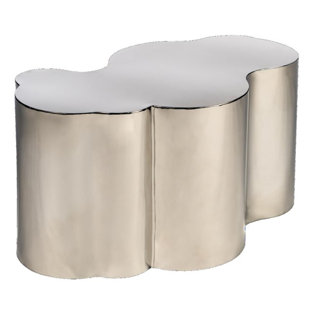 Kate Chrome Finish Coffee Table For Sale