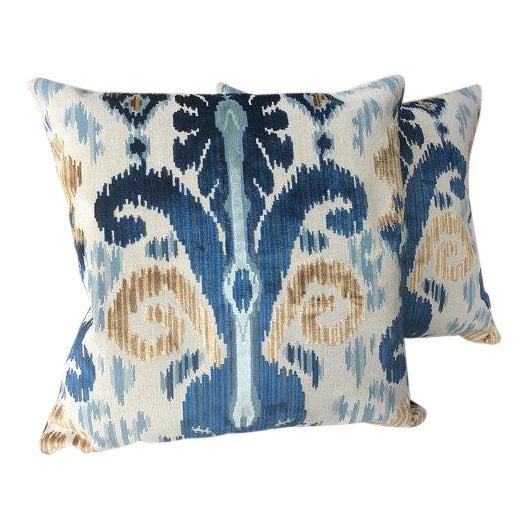 "Lee Jofa ""Pardah"" Velvet Pillows - a Pair For Sale"