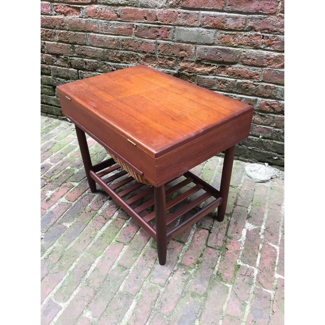 Ejvind Johansson Vitre Danish Teak Sewing Stand For Sale In New York - Image 6 of 9