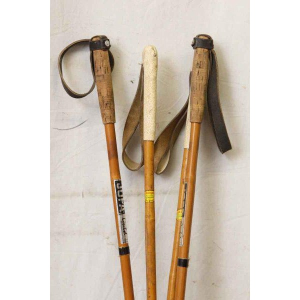 Set of Vintage Ski Poles - a Pair - Image 2 of 7