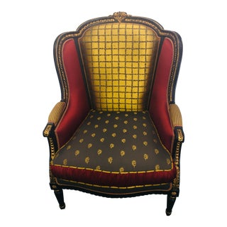 100% Made in Italy by Caspani Tino Part of the Siviglia Vip Collection - Sitting Room Chair For Sale