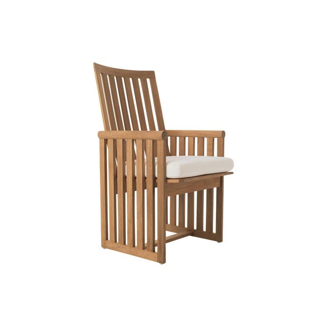 Contemporary Summit Furniture Sources Dining Arm Chair For Sale - Image 3 of 3