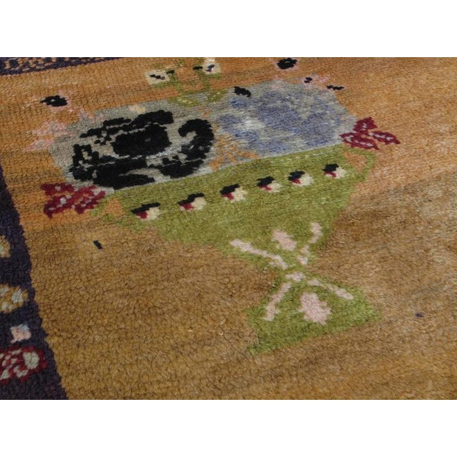 "Blue ""Five Bouquet"" Tulu Rug For Sale - Image 8 of 9"