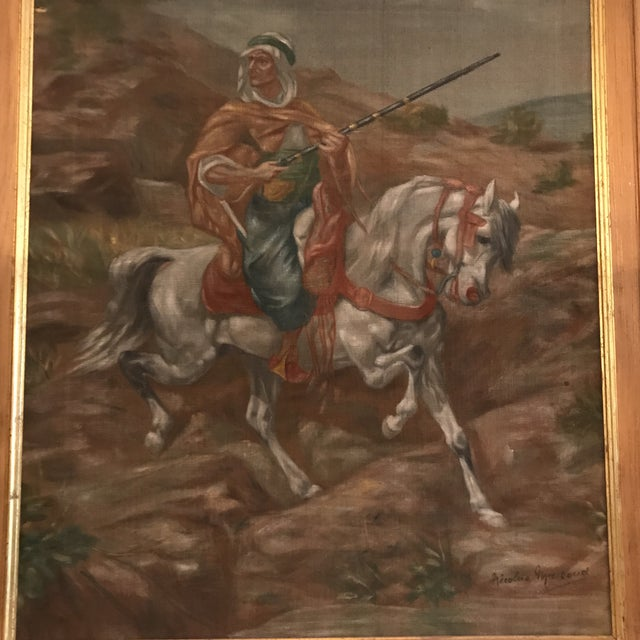 Traditional Nicolas Macsoud Oil on Canvas Painting For Sale - Image 3 of 9