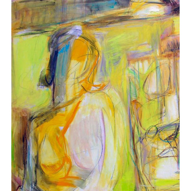 """Trixie Pitts """"Artist and Model"""" by Trixie Pitts Extra-Large Abstract Oil Painting For Sale - Image 4 of 11"""