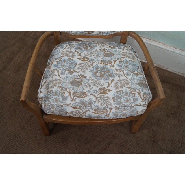 Mid Century Modern Walnut Upholstered Arm Chair - Image 9 of 10