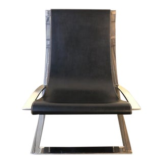 Ralph Lauren Home Canyon Leather Sling Chair For Sale