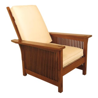 Stickley Spindle Side Mission Oak Morris Chair