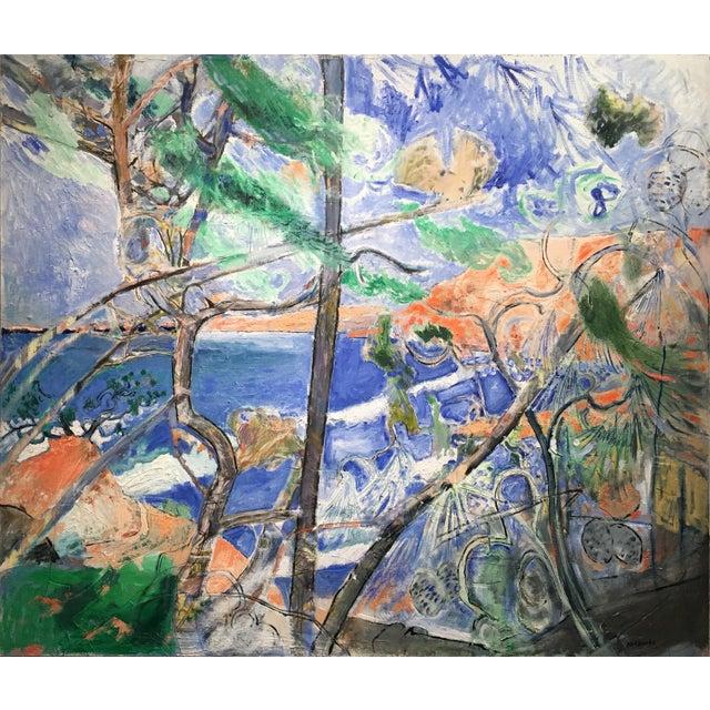 "Neil Brooks ""Orange Bluffs""Landscape Painting For Sale"