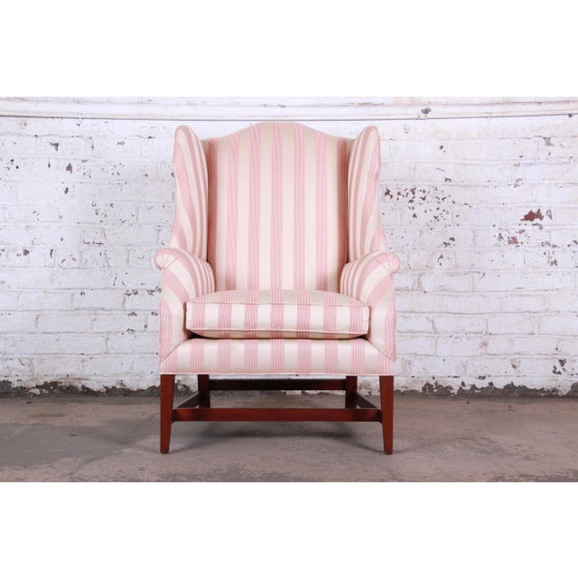 Baker Furniture Wingback Lounge Chair For Sale In South Bend - Image 6 of 6