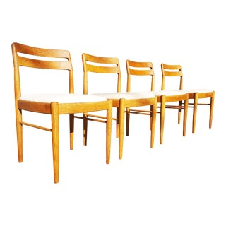 1960s Vintage h.w. Klein for Bramin Møbler Danish Mid Century Modern Dining Chairs - Set of 4 For Sale