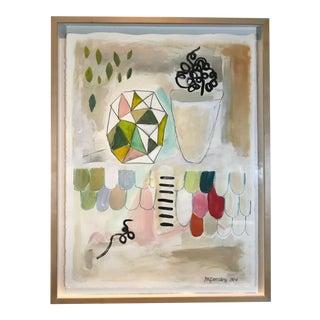 Framed Original Abstract Mixed Media Painting