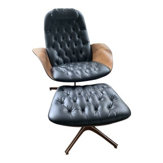 "1960s George Mulhauser for Plycraft ""Mr. Chair"" Lounge Chair + Ottoman For Sale"