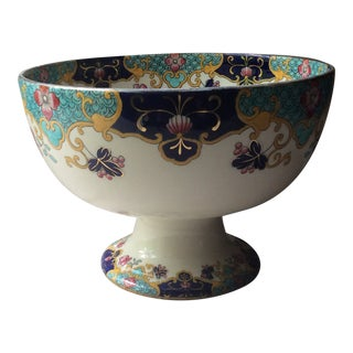 Antique Royal Doulton Hand Painted Punch Bowl For Sale