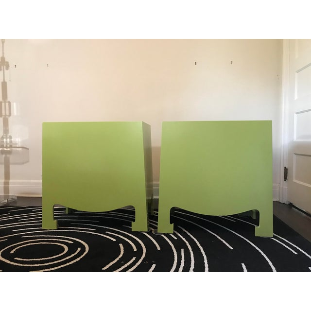 "Pair of lacquered chests with colorful impact! Add instant ""cool"" to your home! Dramatic apple green Bungalow 5 Jacquie..."